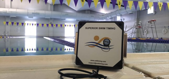 superior swim timing adapter poolside